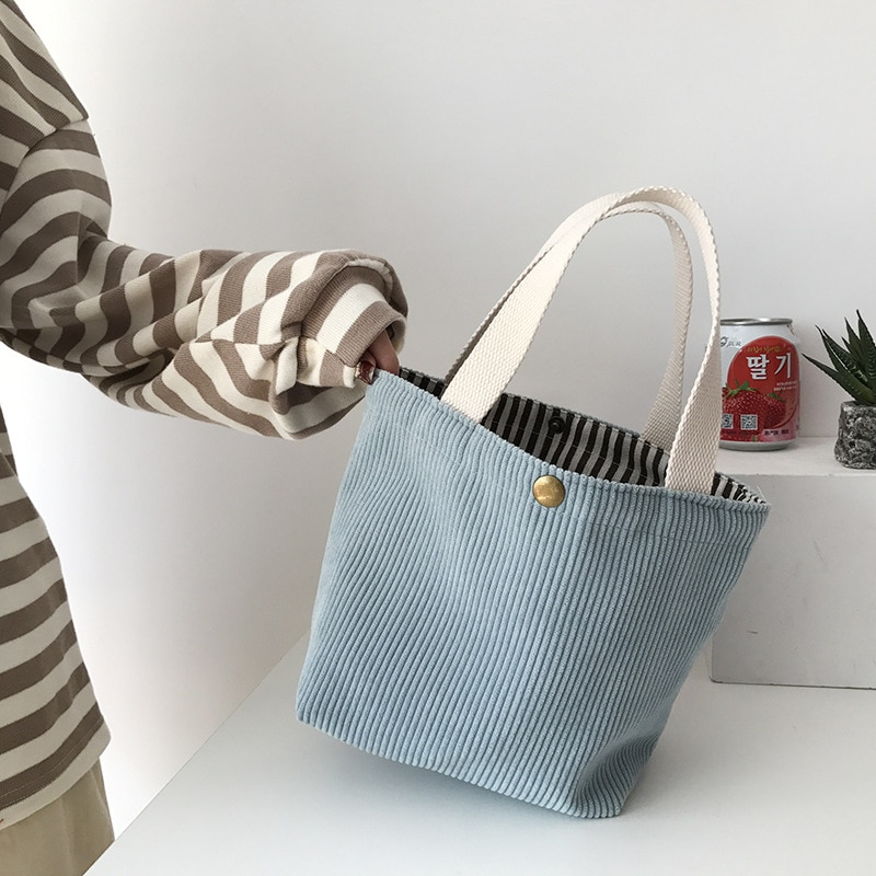 Mini Bags for Women 2021 Corduroy HandBags Reusable Lunch Bags Casual Tote Female Handbag for A Certain Number of Dropshipping