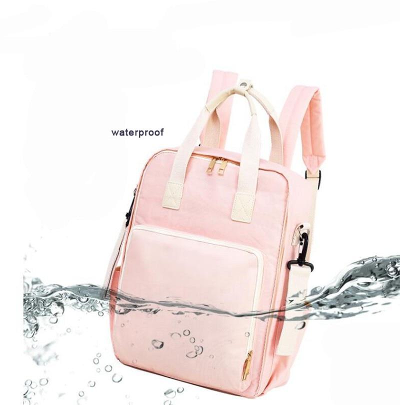 2021 Baby Bags For Mom Diaper Bag backpack Pink Blue Waterproof Maternity Nappy Bag Multifunctional Infant Bag For Stroller
