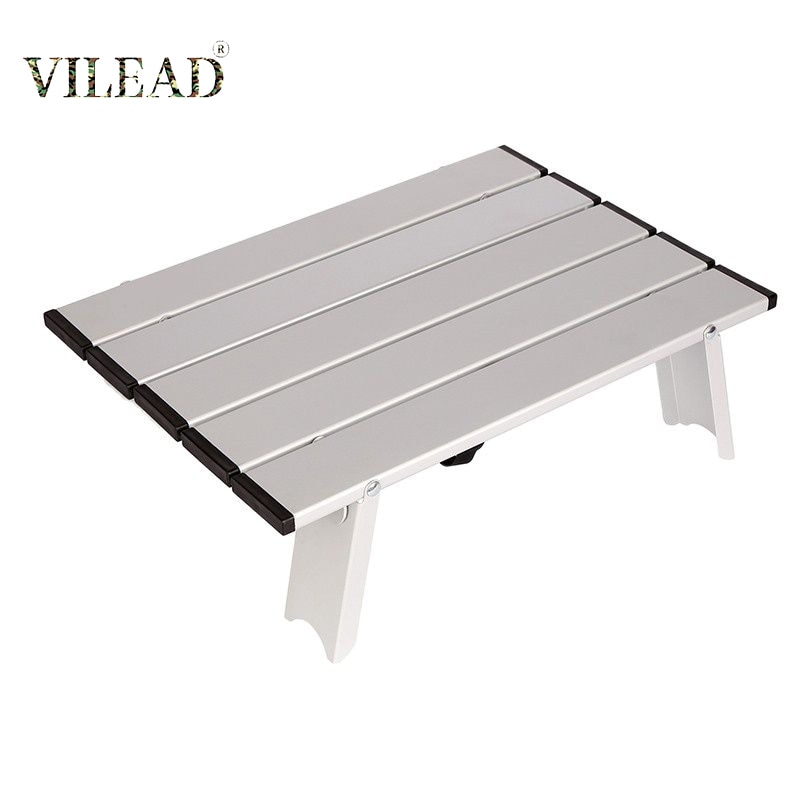 VILEAD الألومنيوم نزهة الجدول طاولات قابلة للطي للتخييم شاطئ السفر خفيفة طاولة تخييم المحمولة أثاث التخييم الصغيرة