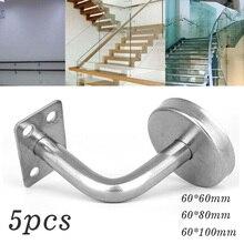 Accessoires de Type matériel descalier mural   Supports de rampe de 5 pièces, accessoires en acier inoxydable pour escalier mural