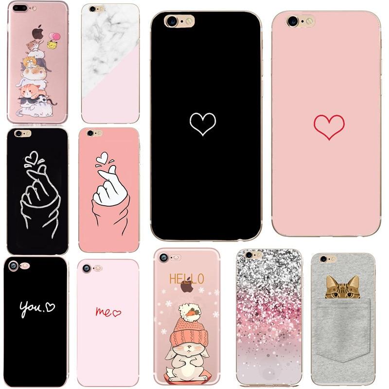 Zachte Telefoon Case Voor Iphone 7 Plus 6 6S 5 5S Se 2020 Cover Coque Silicon Fundas Voor apple Iphone 7 8 Plus X Xs Max Xr Accessoires