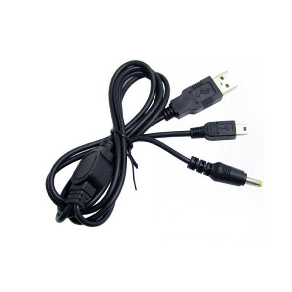 2 In 1 Home Multifunktionale Computer Verbindung Schwarz USB Kabel Tragbare Daten Übertragung Büro Lade Praktische Für PSP