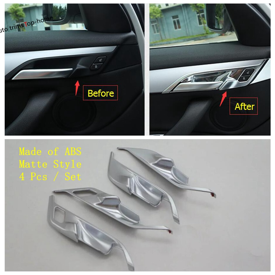 Matte Interior Refit Kit For BMW X1 F48 20i 25i 2016 - 2020 Roof Reading Lamps / Air AC Panel / Dashbaord  / Headlamp Cover Trim