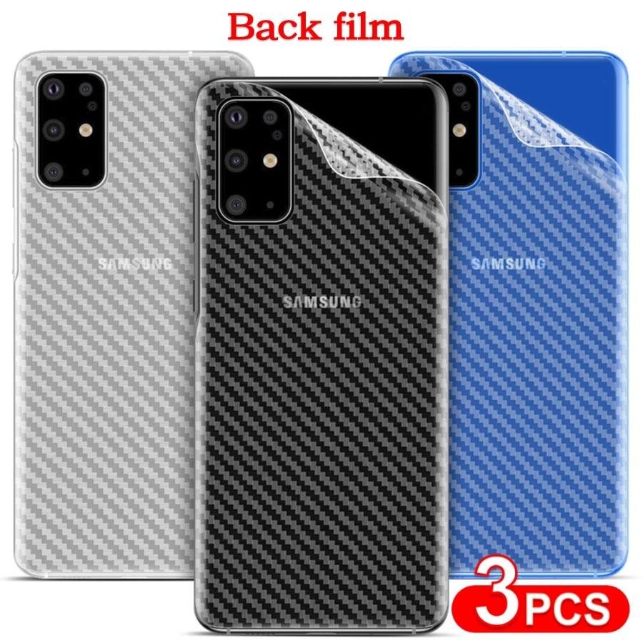 AliExpress - 3Pcs Carbon Fiber Anti-fingerprint Back Film Samsung Galaxy Note 20 Ultra S21 S20 S10 Plus S9 Back Screen Protector For Note10