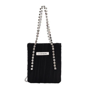 2021 New Women Diamonds Clutch Rhinestone Purse Silk Crystal Clutch Party Evening Wedding Handbags Shoulder Bag Lady