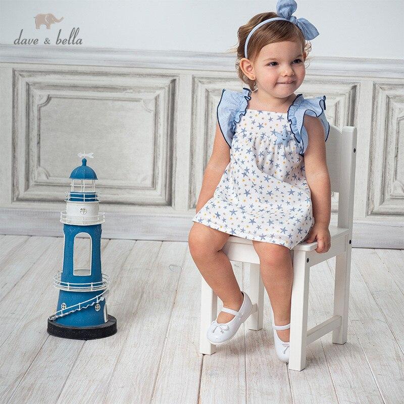 Dave bella/DBM13897 летнее платье для маленьких девочек, платье принцессы со звездами и рюшами, Детские вечерние платья, детская одежда в стиле Лолита Платья для девочек    АлиЭкспресс