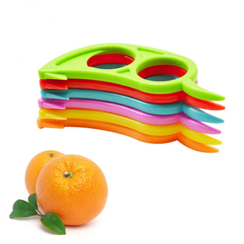 Utensilio creativo para fruta peladores de naranja rebanador de limón pelador de frutas abridor fácil cuchillo para cítricos utensilios de cocina Gadgets De Color aleatorio