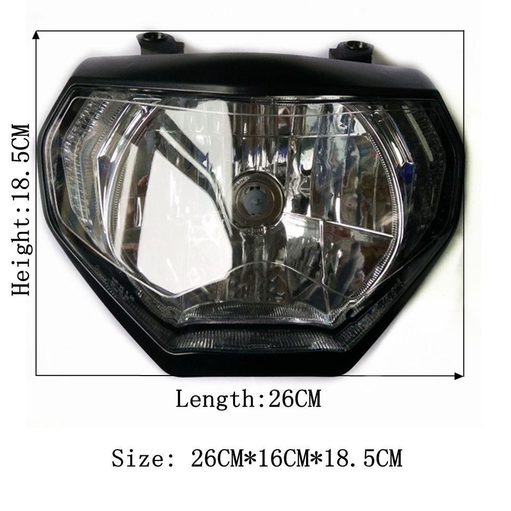 تعديل دراجة نارية جزء mt09 led MT-09 للمصابيح الأمامية رئيس ضوء مصباح مع لمبة لياماها mt09 MT09 FZ09 2014 2015 2016