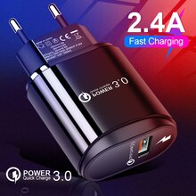 Mini chargeur rapide 3.0 USB QC 3.0 Charge sûre et rapide 2.4A ue USA prise adaptateur chargeur mural pour Smartphone Xiaomi Huawei