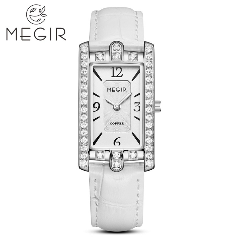 MEGIR 2021 موضة جديدة موضة أنيقة الرياضة الفاخرة ساعات كوارتز ساعة السيدات الإناث حزام مضاد للماء Llock Zegarek Damski 7004