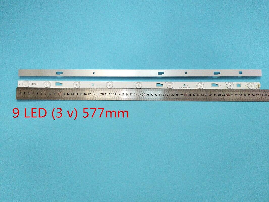 5Set =  10 light bar pieces LED Retroilumination Strip For D32TS7202 32HR331M09A5 V1 strip Driven 1pcs= 580MM 9Led lamps