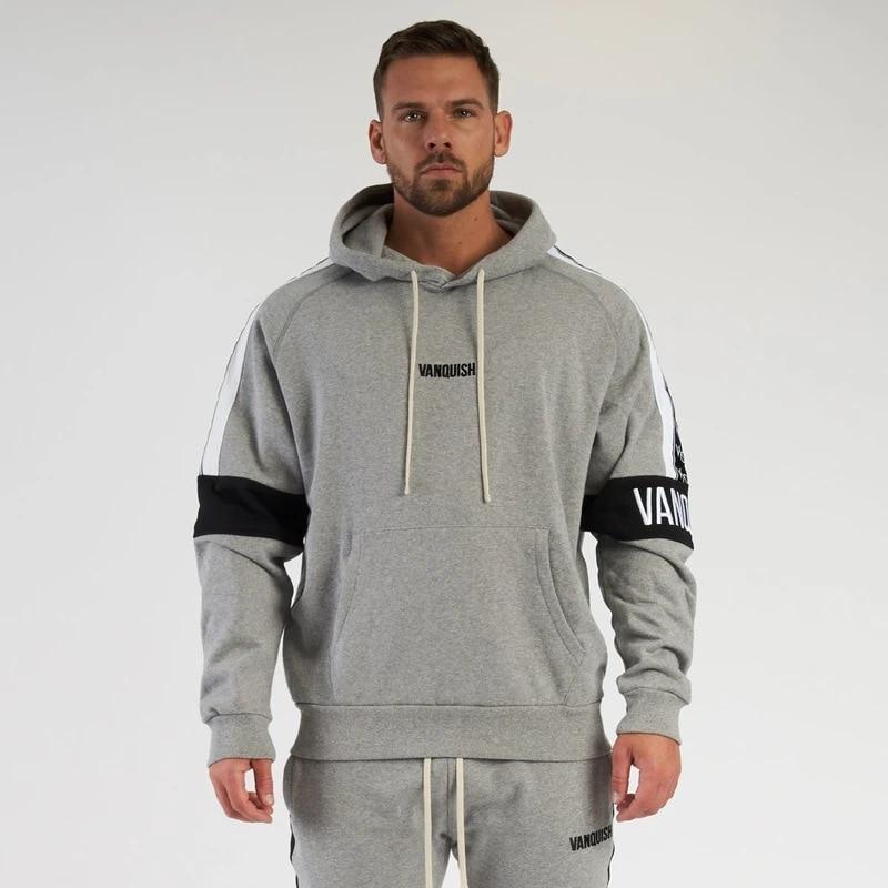 Модная мужская одежда E-BAIHUI из хлопка, джоггеры, горячая распродажа, модная мужская спортивная одежда, мужская Толстовка для фитнеса и трени...