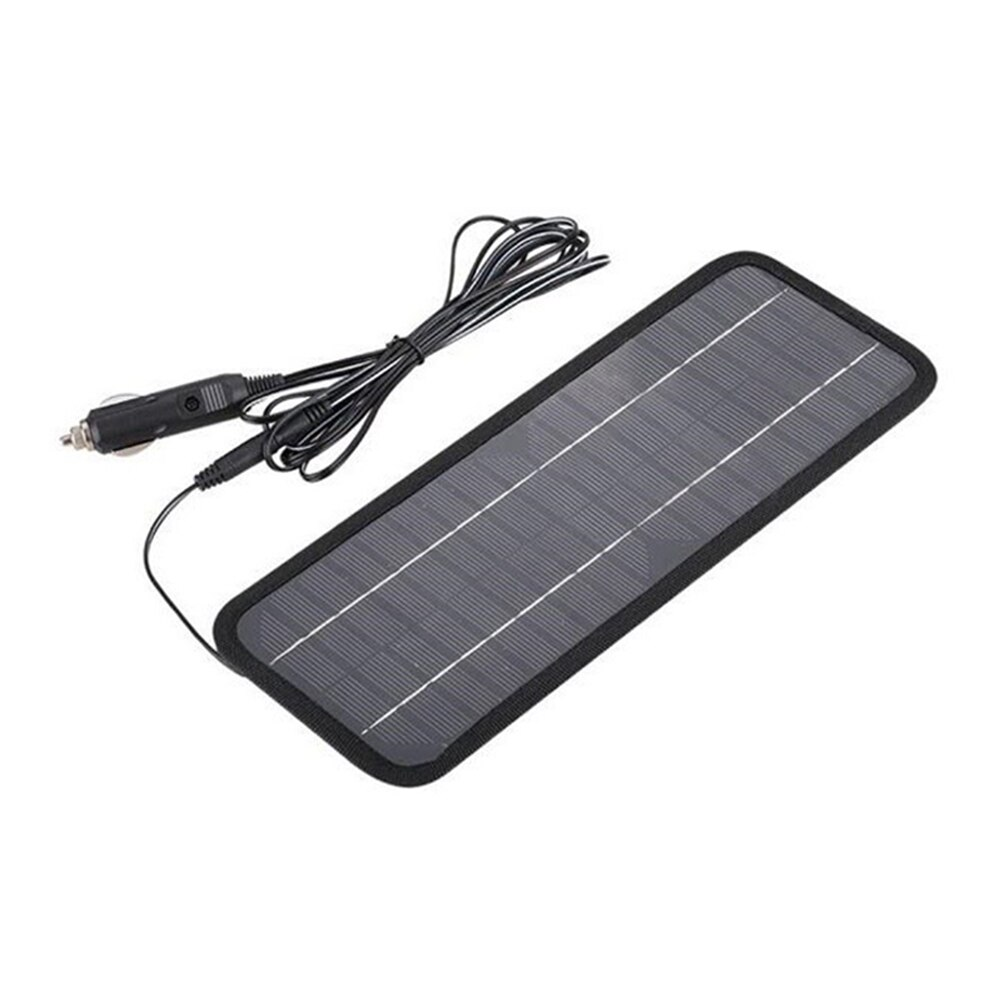 Solar Panel 12V 5W Battery Charger System Portable Maintainer Marine Boat Car F-Best