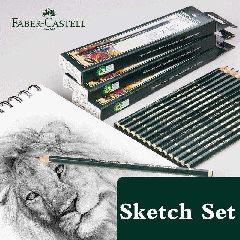 Faber-Castell Pencils 6/16 Pcs Set School Profession Pencil Set Graphite Pencil for Drawing And Sketching Pen Set