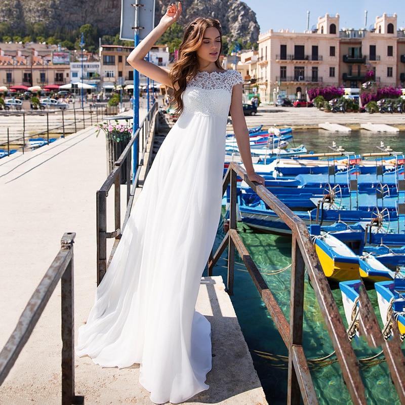 Maternity Wedding Dress Emprie Plus Size Bride Dresses for Pregent Women Lace up Cap Sleeve Beach Wedding Gowns A Line