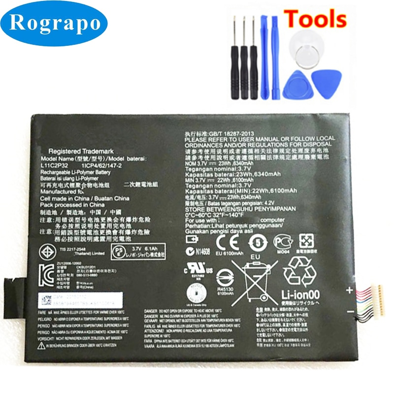New 6340mAh L11C2P32 L12D2P31 Battery For Lenovo IdeaTad S6000 S6000-H A7600 A7600-HV A7600-F S6000L-F A10-80HC Accumulator