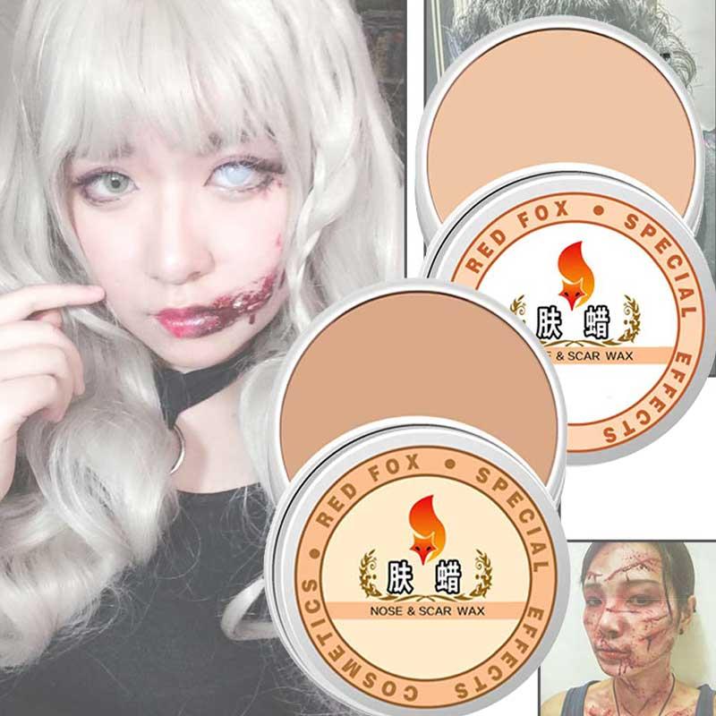 Actuación de Halloween, vestido de lujo, falsa cicatriz, cera para la piel, pintura corporal, maquillaje, piel ligera MH88