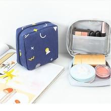 Women Make Up Cosmetic Bag Cute Sanitary Napkins Lipstick Beauty Case Organizer Toiletry Kits Bags W