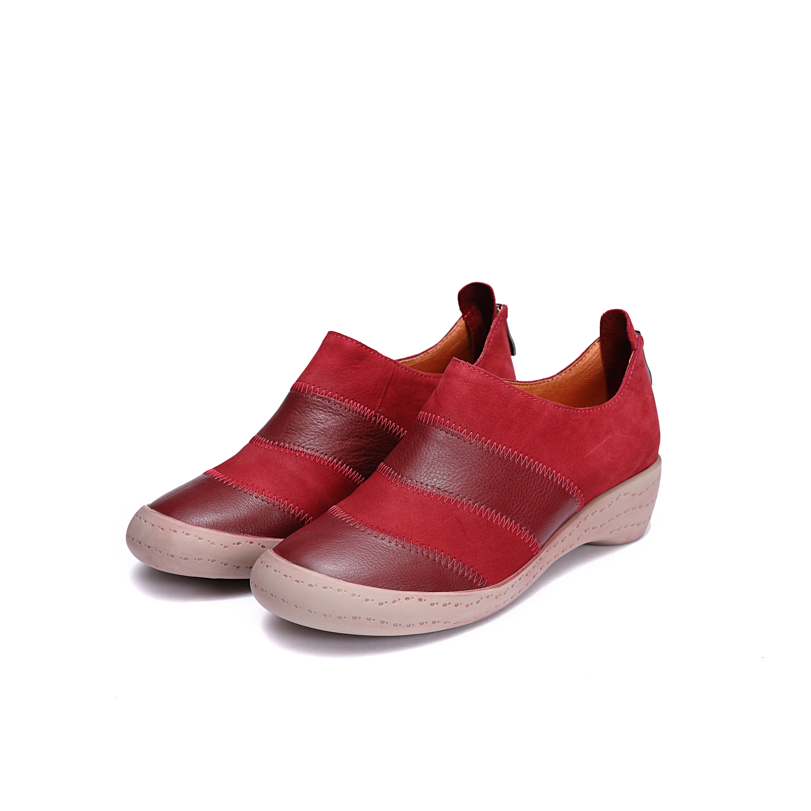 Autumn Women Flats Loafers Shoes Genuine Leather Female Shoes Lace Up Loafers Casual Lace-Up Walking