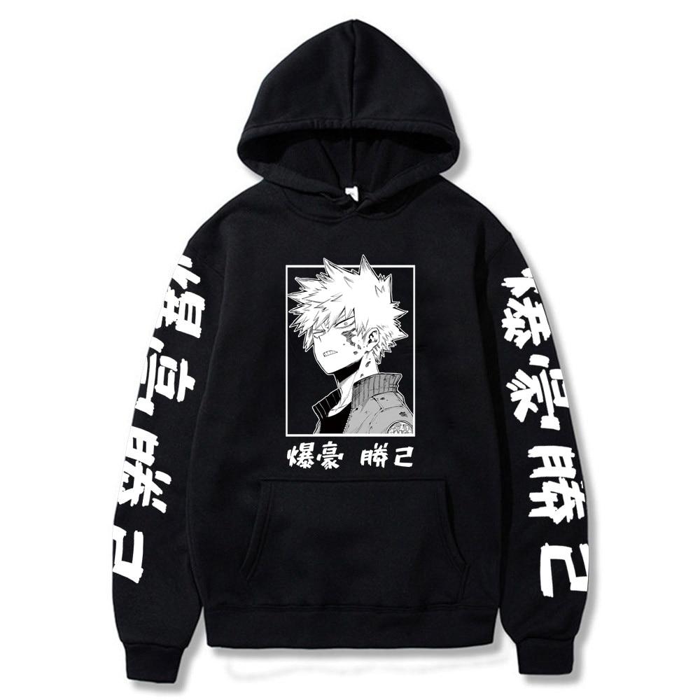 My Hero Academia Katsuki Bakugo Hoodies Sweatshirt Uni Clothes Men Women Moleton