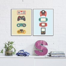 Vintage Gamer toile peinture mur Art affiches et impressions scandinave rétro jeu garçon cadeau affiches murales enfants chambre décor