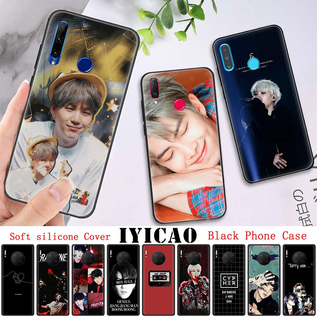 Cubierta suave de silicona para Huawei P20 P30 Pro Lite P8 P9 P10 Lite Mini P Smart Z P Smart Plus 2019 Suga K Pop. Yoongi K Pop