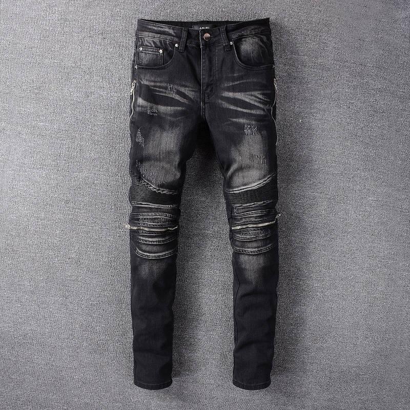تصميم جديد لعام 2021 بنطال جينز أميري من الجينز ذو ثقوب ، بنطال جينز ممزق للرجال من HOMME ، بنطلون جينز كول غي 607