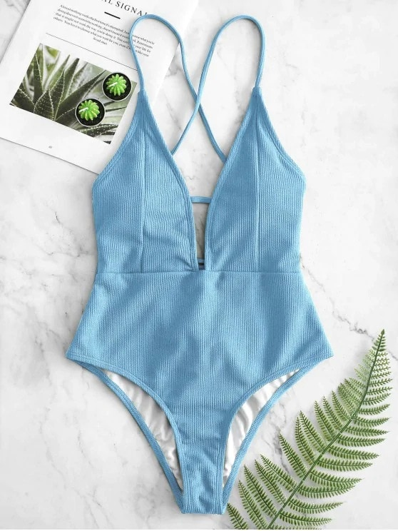 Sexy Halter Solid Women Swimwear Sexy High Cut Out One Piece Swimsuit Backless Thong Swim Suit Female Bathing Suit Monokini