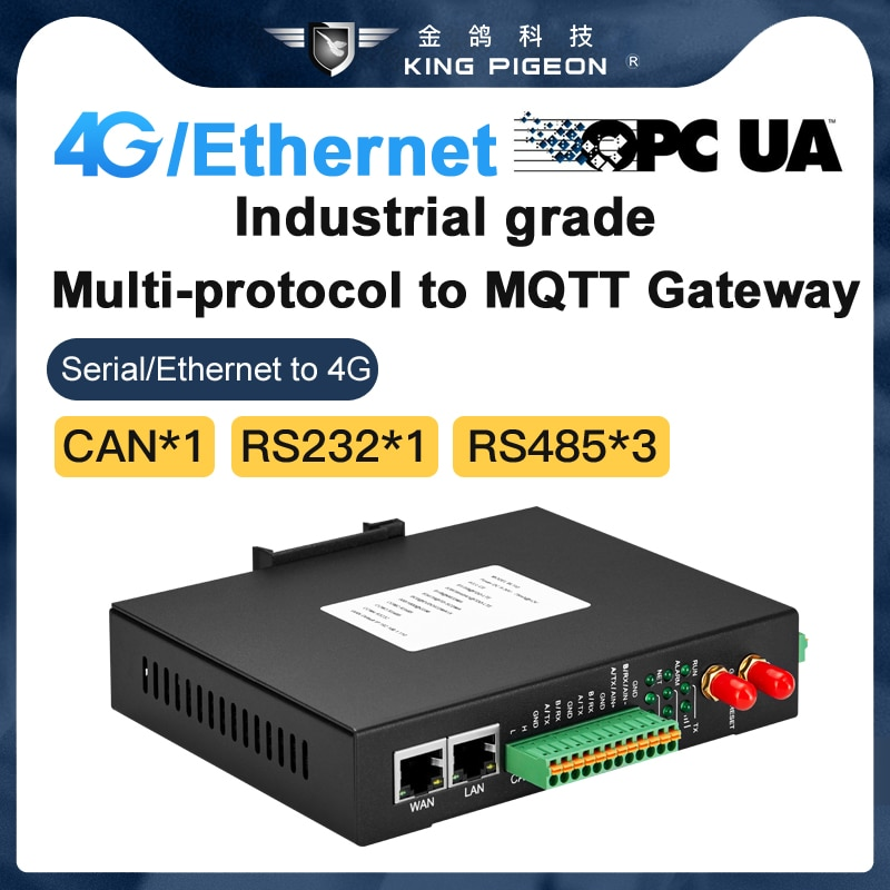 4G Ethernet OPC Gateway one-click connection with AWS Huawei alibaba Cloud supports Modbus MQTT BACNet Protocol enlarge