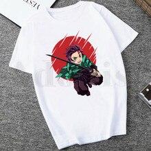 Japonais Anime Kimetsu No Yaiba démon Slayer t-shirt Harajuku décontracté blanc t-shirt femmes nouvelles chemises dété graphique t-shirts