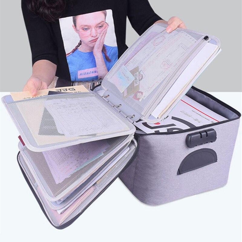 File Folder for Document Organizer Bag Binder A3 A4 A5 A6 Holder School Stationery Clipboard Desk Office Accessories