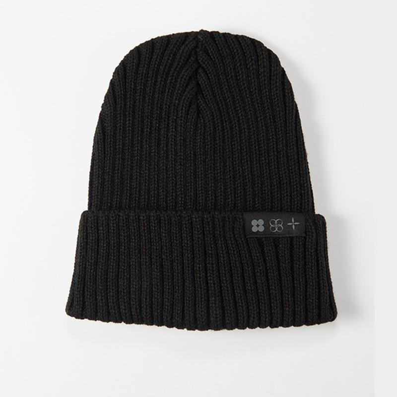 Kpop Bangtan Boys TOUR JK mismo gorro de punto bordado de calidad superior elástico Otoño Invierno negro gorro gorra negro