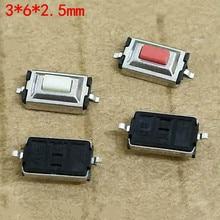 100 sztuk Mini przełącznik 3x6x2.5mm dwa Pin przełącznik wciskany SMD Tactile Tact mikro przełącznik MB3/MB4 Tablet moc PC przełącznik