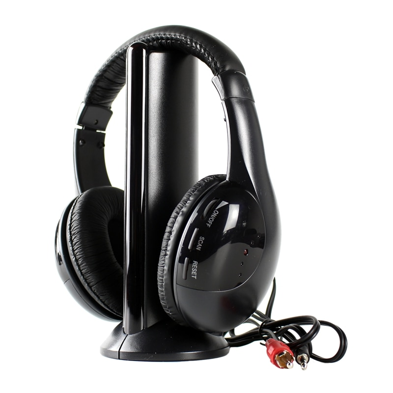 Head Radio Wireless Headset with Transmitter Base 5 in 1 TV TV Computer Wireless Headset Mh2001