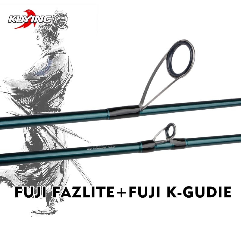 KUYING BATTLE SONG Spinning Casting 1.9m 1.95m 1.98m 2.04m 2.05m Fishing Lure Rod Stick Cane FUJI parts Light FAST Action enlarge