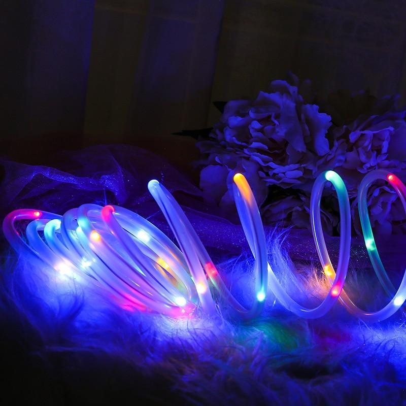 Solar light string lights LED outdoor waterproof wedding banquet garden Christmas tree DIY shape decoration PVC copper wire lamp