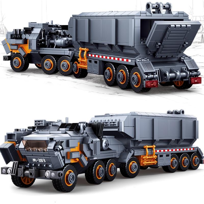 832Pcs Wandering Earth Transport Truck Carrier Vehicle Car Model Building Blocks Sets City Educational Toys for Children