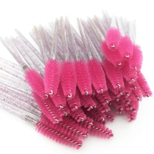 50PCS Disposable Crystal Eyelash Brush Mascara Wands Applicator Grafting Eyelash Curling Comb Beauty Makeup Tool Eye Lash Brush