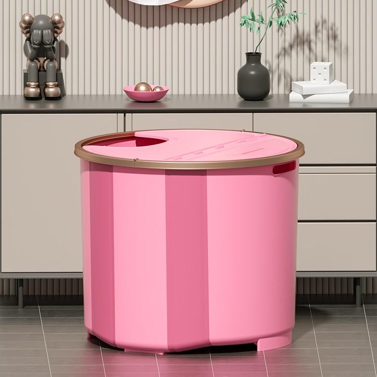 Plastic Foldable Bathtub Shower Adults Large Portable Thick Solid Bathtub Barrel Sitz Bath Banheira Bathroom Products DG50YP