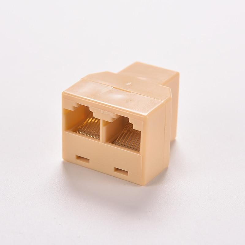 1 до 2 8P8C гнездо сетевой модульный штекер LAN Y адаптер разъём разветвитель DZ517 RJ45