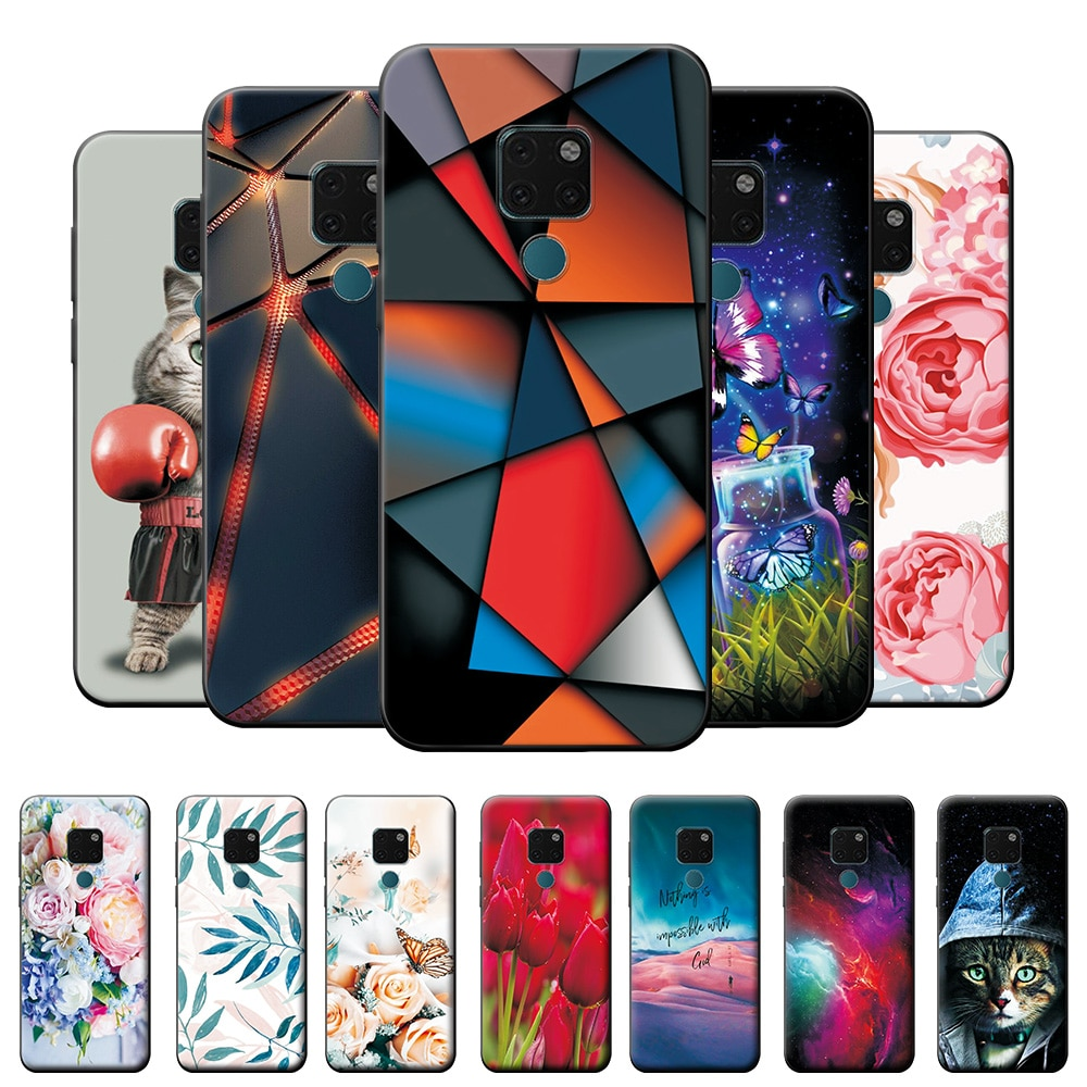 For Huawei Mate 20 Case Back Cover For Huawei Mate 20 Soft Silicone Case on Mate 20 Animal Style Pho