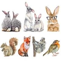 lovely vinyl animals decal cartoon fox koalas bird bunny car stickers rabbits mural home decoration laptop decal