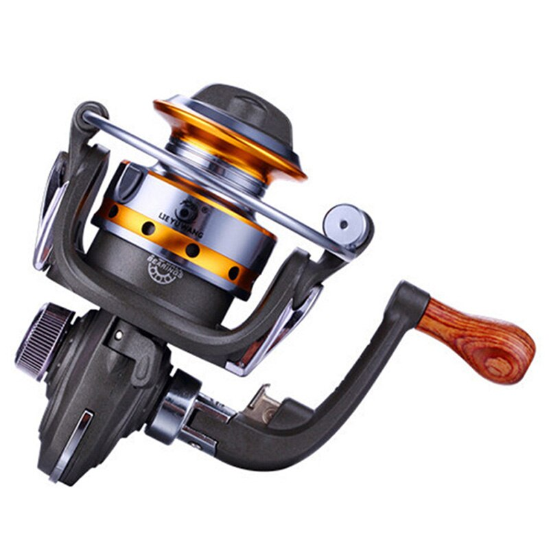 LIE YU WANG Mini hielo invierno rueda giratoria para carrete de pesca 10 rodamientos 5,2: 1 Metal carrete de pesca exquisito carrete giratorio 150G