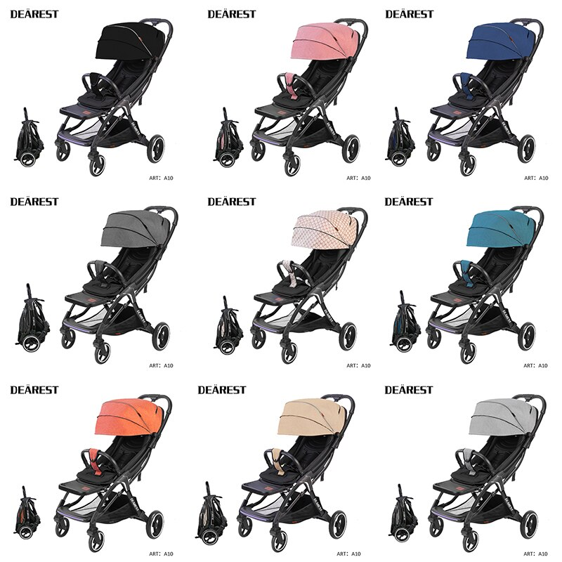 Dearest A10 Baby Car Shipping Free Ultra-Light Folding Can Sit Or Lie High Landscape Applicable Four Seasons General enlarge