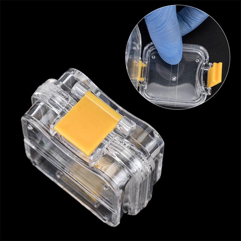 10pcs New Dental Pequena Coroa-mantendo Caixa Transparente Com Clear Filme Flexível Dentro