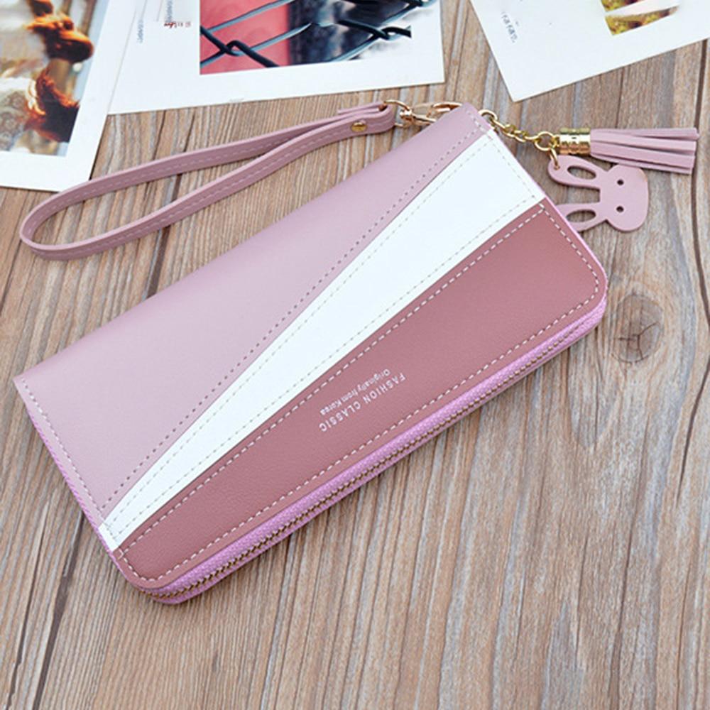 Geometric Women Cute Pink Wallets Pocket Purse Card Holder Patchwork Wallet Lady Female Fashion Short Coin Burse Money Bags Girl