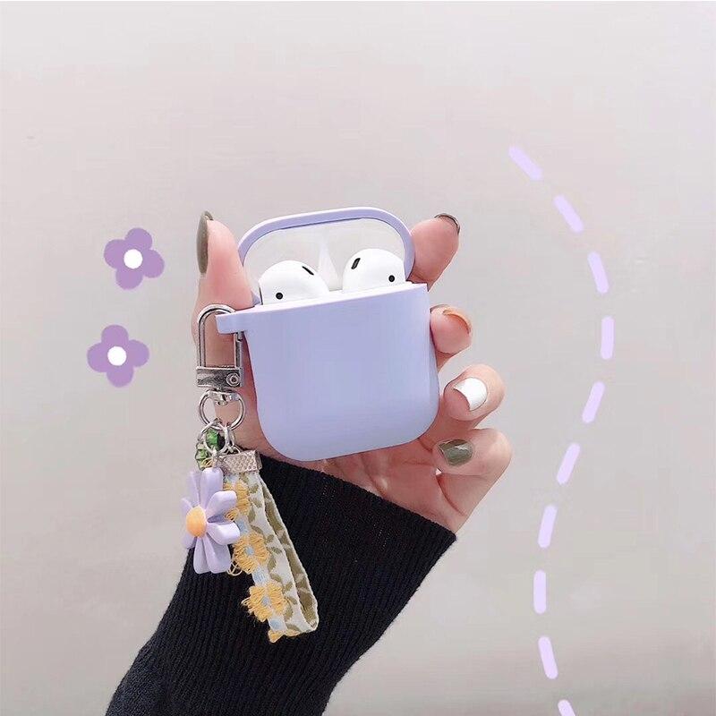 Flores coreanas para Apple Airpods accesorios decorative... funda de silicona para auriculares...