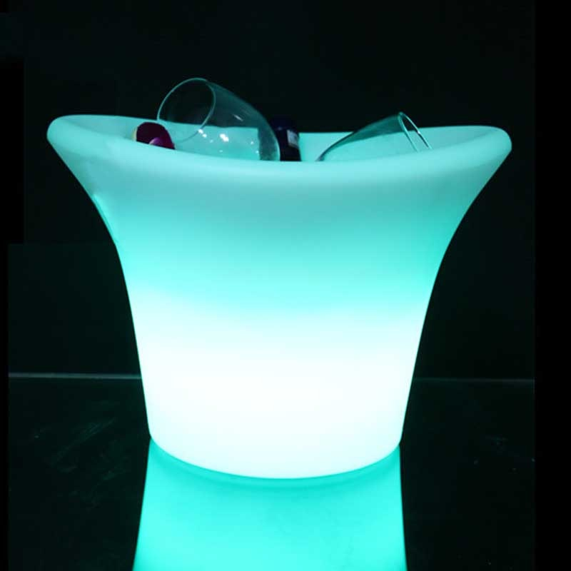 Waterproof LED Ice Bucket RGB Color Changing Battery Powered Remote Control Wine Beer Bottle Drink Cooler Party IceBucket Lights enlarge