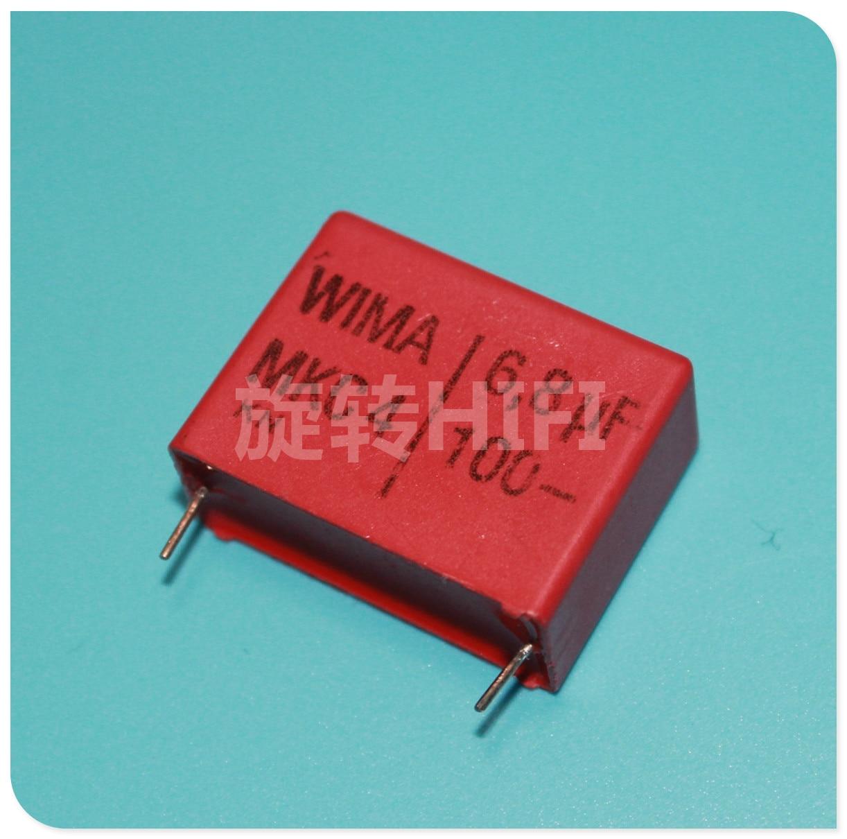 2 uds rojo WIMA MKC4 6,8 UF 100V PCM27.5 original nuevo MKC4 685/100V P27.5mm de audio gran oferta 6,8 uf/100 v 6u8 685