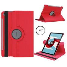 Чехол для планшета Huawei MediaPad M5 10,8 с вращающимся на 360 градусов кронштейном, кожаный чехол для Huawei MediaPad M5 Pro 10 10,8, чехол для планшета